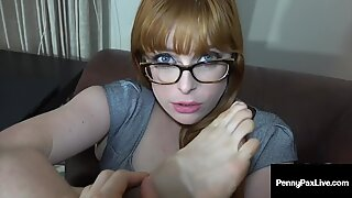 Ginger Bush Penny Pax Does Hot JOI While Exposing Her Feet!