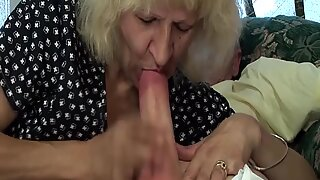 hairy 78 years old skinny granny gets rough fucked by her big cock toyboy